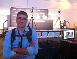 Martin Casado gets ready to appear on theCUBE at VMworld 2012, Photo by Wikibon's Stu Miniman