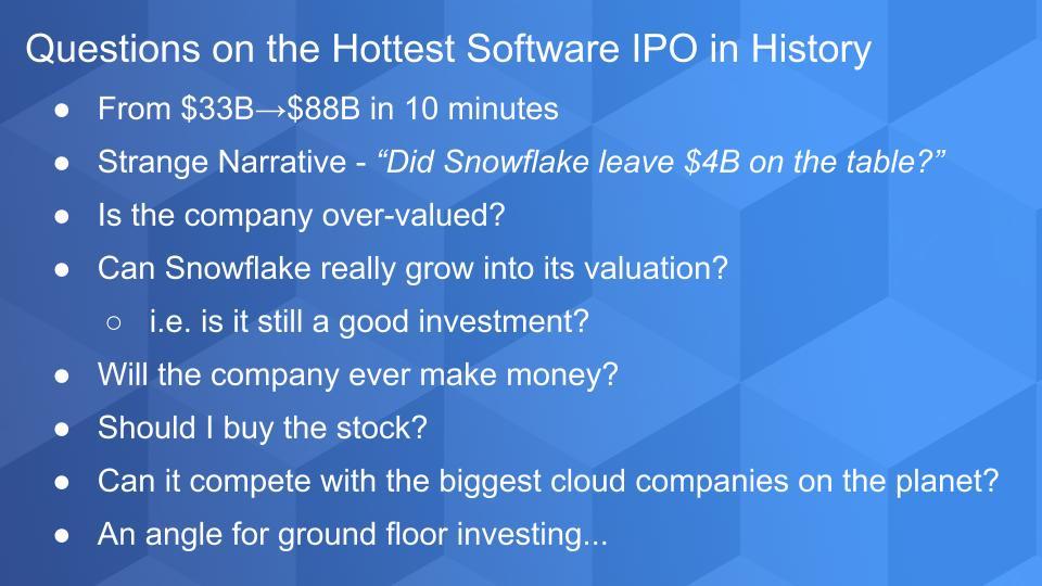 Breaking Analysis: Snowflake's IPO…Here's What's Next