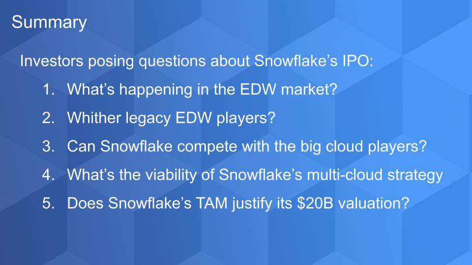 Breaking Analysis: Five Questions Investors are Asking about Snowflake's IPO
