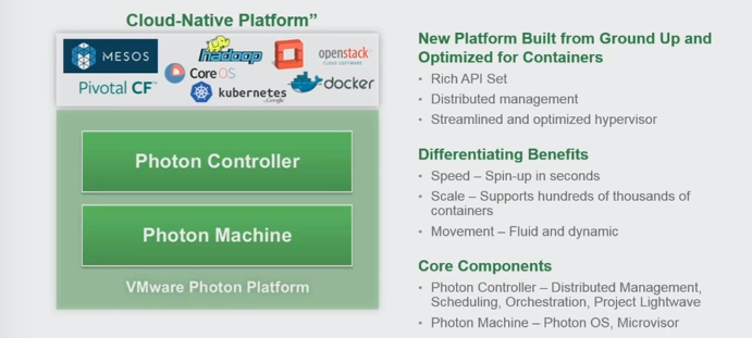 Diagram 2: VMware Photon Platform (Source: VMworld 2015; Kit Colbert)